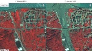 Sel felaketinin bıraktığı tahribatı İTÜ uydudan görüntüledi