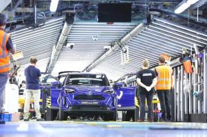 Toyota Yaris Cross üretim bandında
