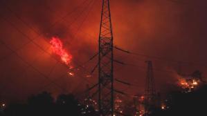 Ufak ufak patlamaların yaşandığı Milas'taki termik santralden ilk görüntüler geldi