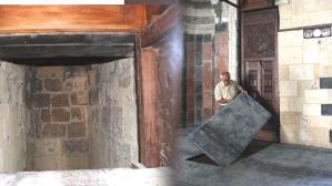7 asırlık caminin minberi raylı