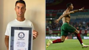 Tarihin her sayfasında artık o var! Ronaldo, İrlanda'ya attığı gollerle Guinnes Rekorlar Kitabı'na girdi