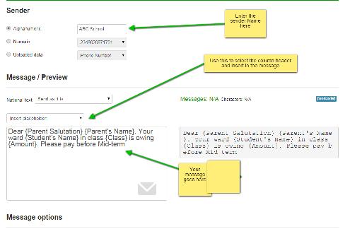 Input Message - Bilsmore