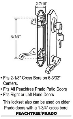 peachtree patio door hardware parts