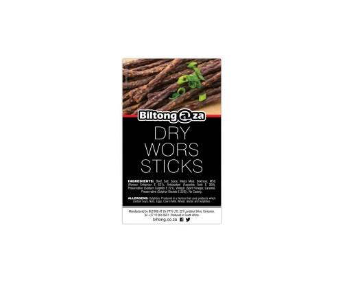 Original Dry Wors Sticks - Biltong@ZA