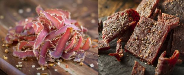 difference between biltong and jerky