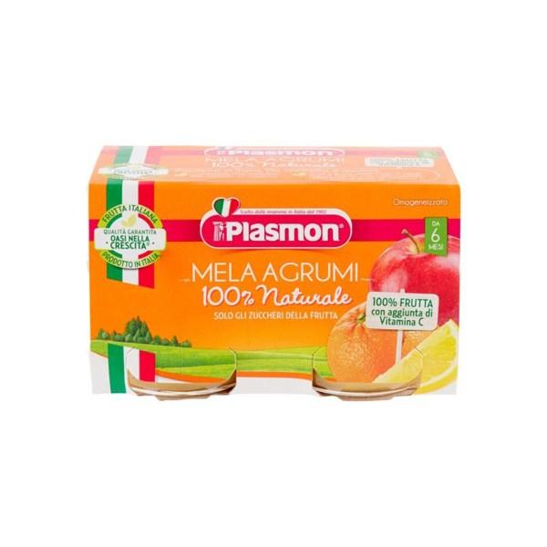 Plasmon Omo Frutta Mela e Agrumi 2x104g
