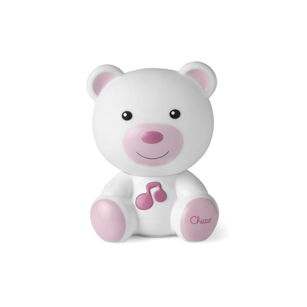 Luce notte orsetto rosa