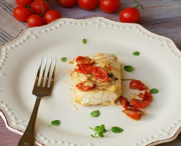 Merluzzo con pomodoroni e olive bimby
