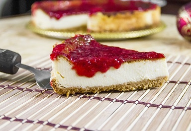 Cheesecake con coulis di fragole Bimby