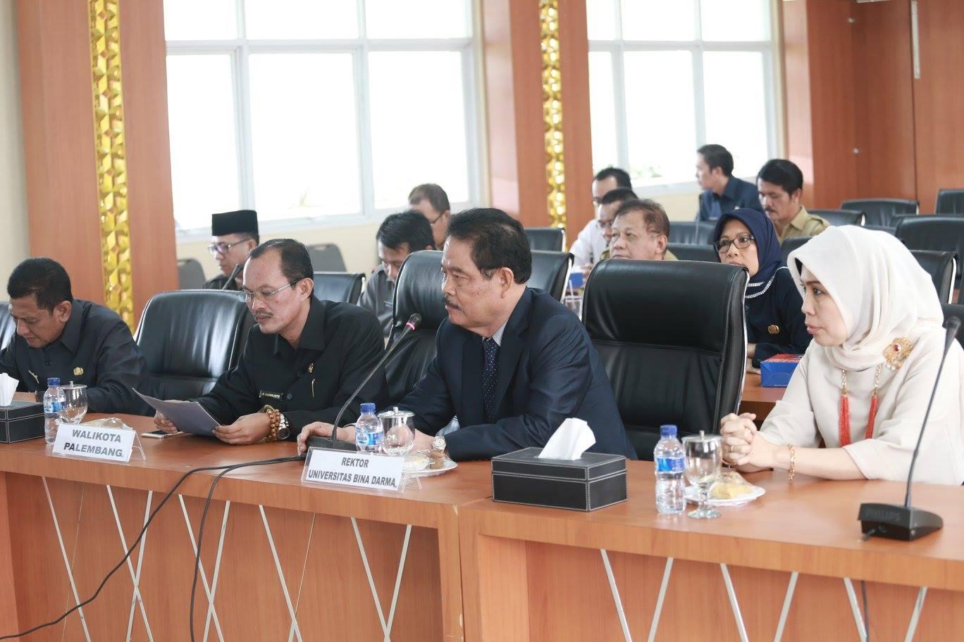 Universitas Bina Darma siap mendukung Program Pemerintah Kota Palembang