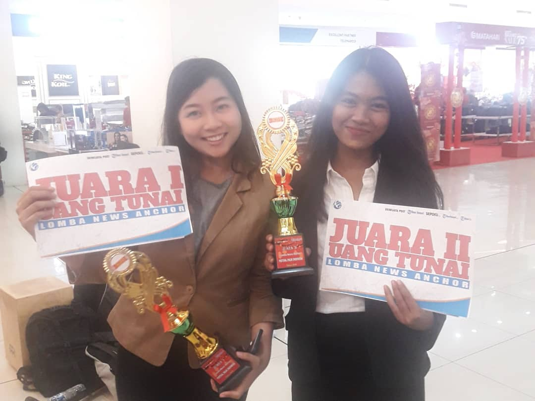 Refka dan Bella Juara Lomba News Anchor