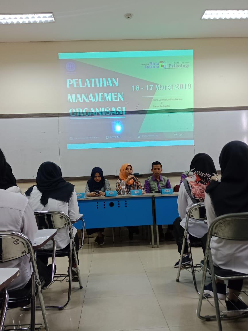 Himpunan Mahasiswa Psikologi Mengadakan Kegiatan Pelatihan Manajemen bagi Calon Anggota Baru