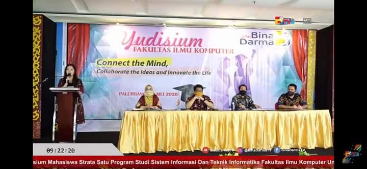 Fakultas Ilmu Komputer Universitas Bina Darma Gelar Yudisium Online