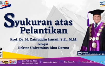 Syukuran atas Pelantikan Rektor Universitas Bina Darma dan Peresmian Meeting Room Prof. Dr. H. Zainuddin Ismail, S.E., M.M
