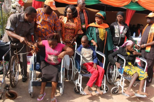 Bina Foundation gives free brand new wheelchairs to persons with disability