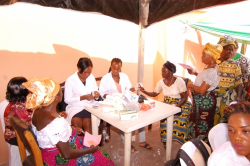 Bina Foundation medical team attends to indigent widows during medical outreach