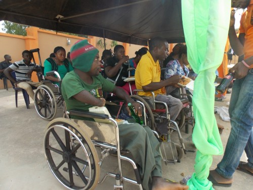 New students with disability at the orientation ceremony