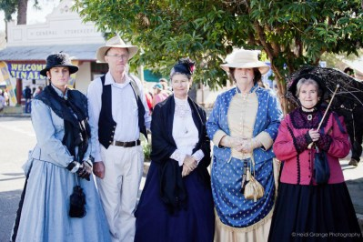 Best Colonial Dressed Lady (second right) Margaret Thornhill and with friends