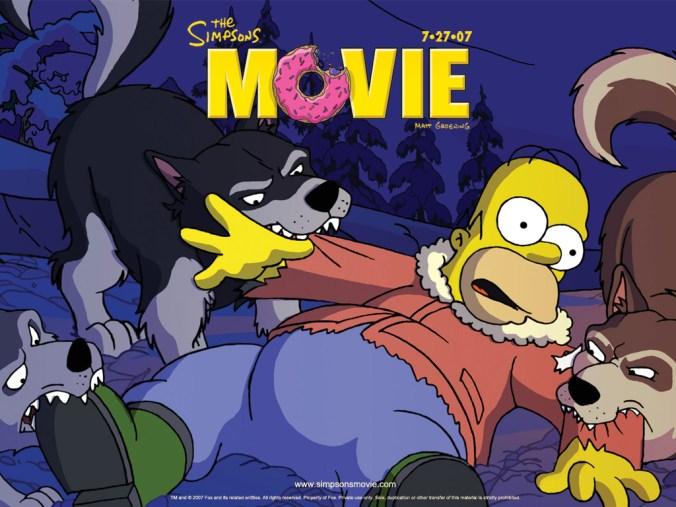 The Simpsons Movie Huskies Revenge