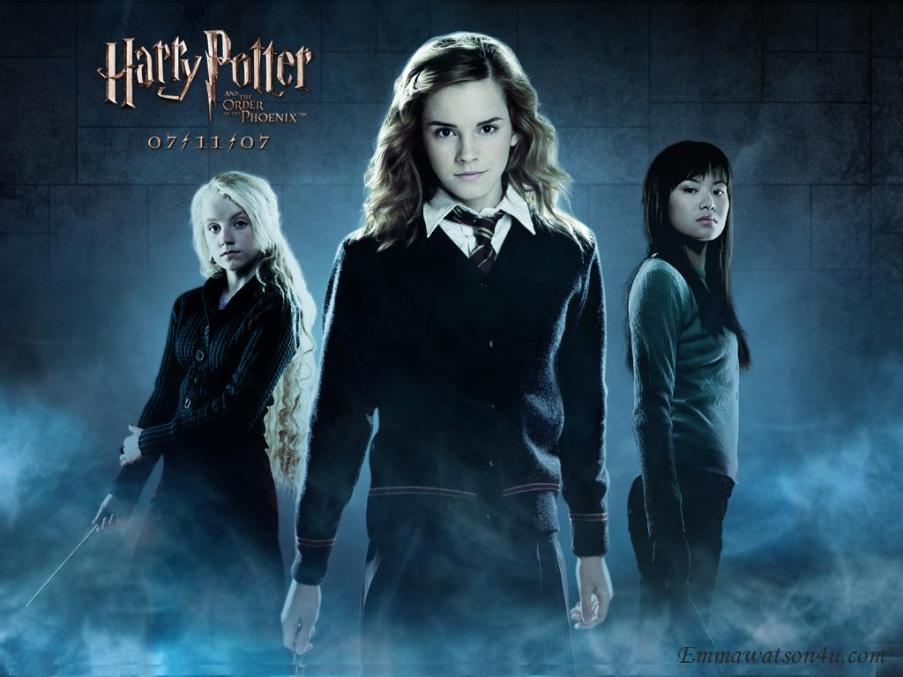 Harry Potter and the Half Blood Prince. Hermione, Cho, and Luna