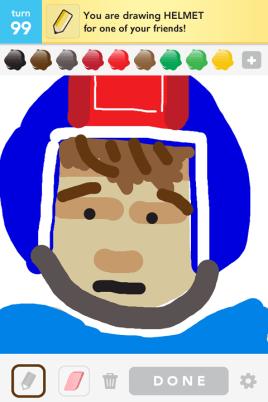 Draw Something - Helmet
