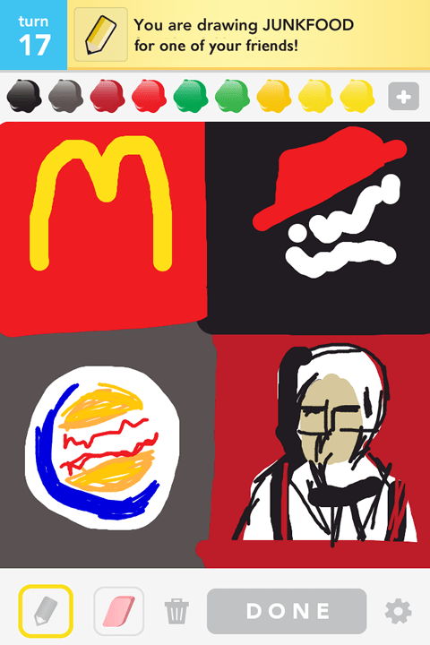 Draw Something - Junkfood
