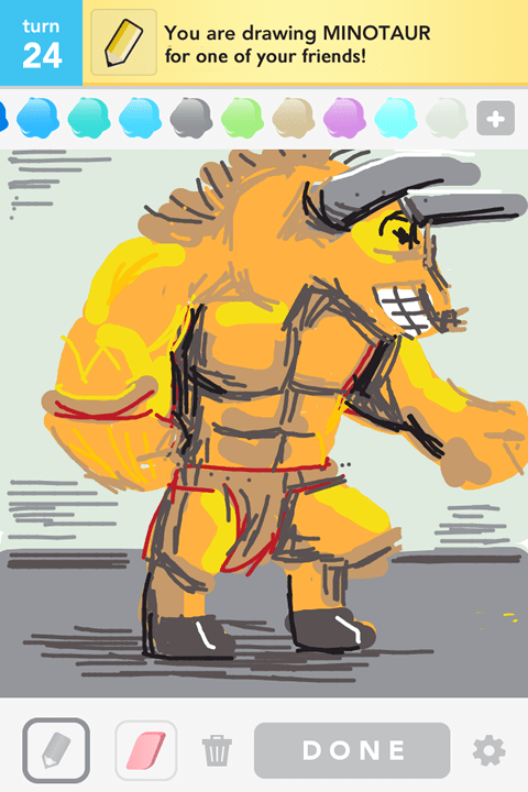 Draw Something - Minotaur