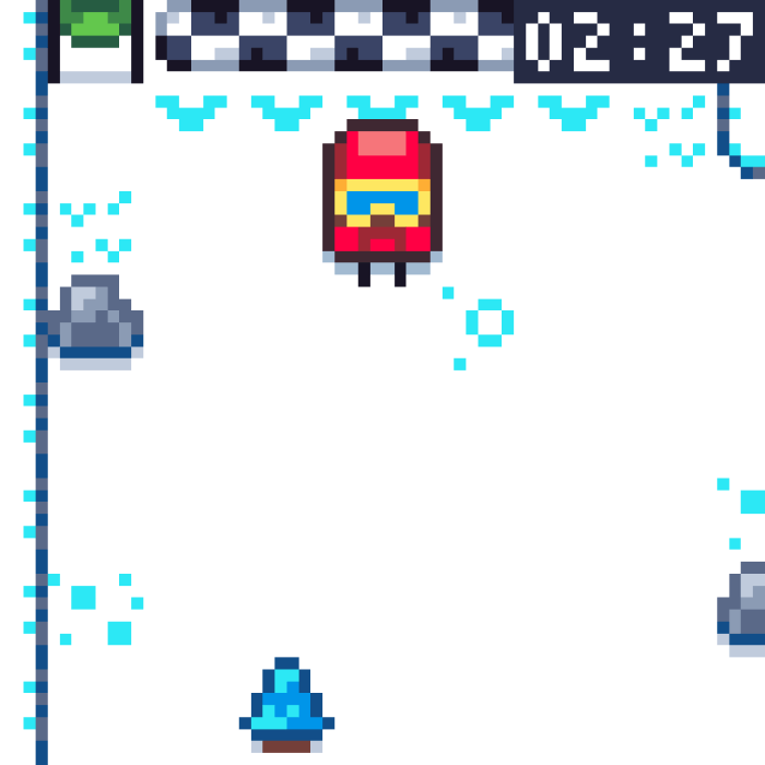 Pixel Peak – a Teeny Weeny Skiing Game