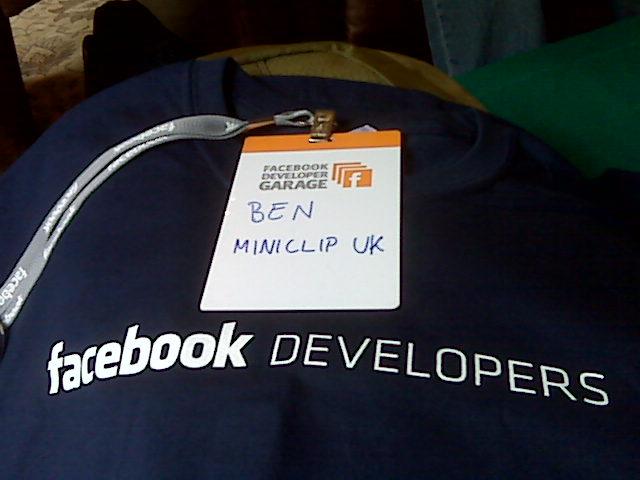 Facebook Hackathon T-Shirt and Badge