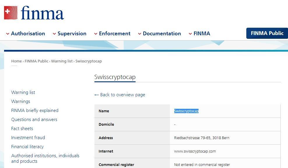 Swisscryptocap review