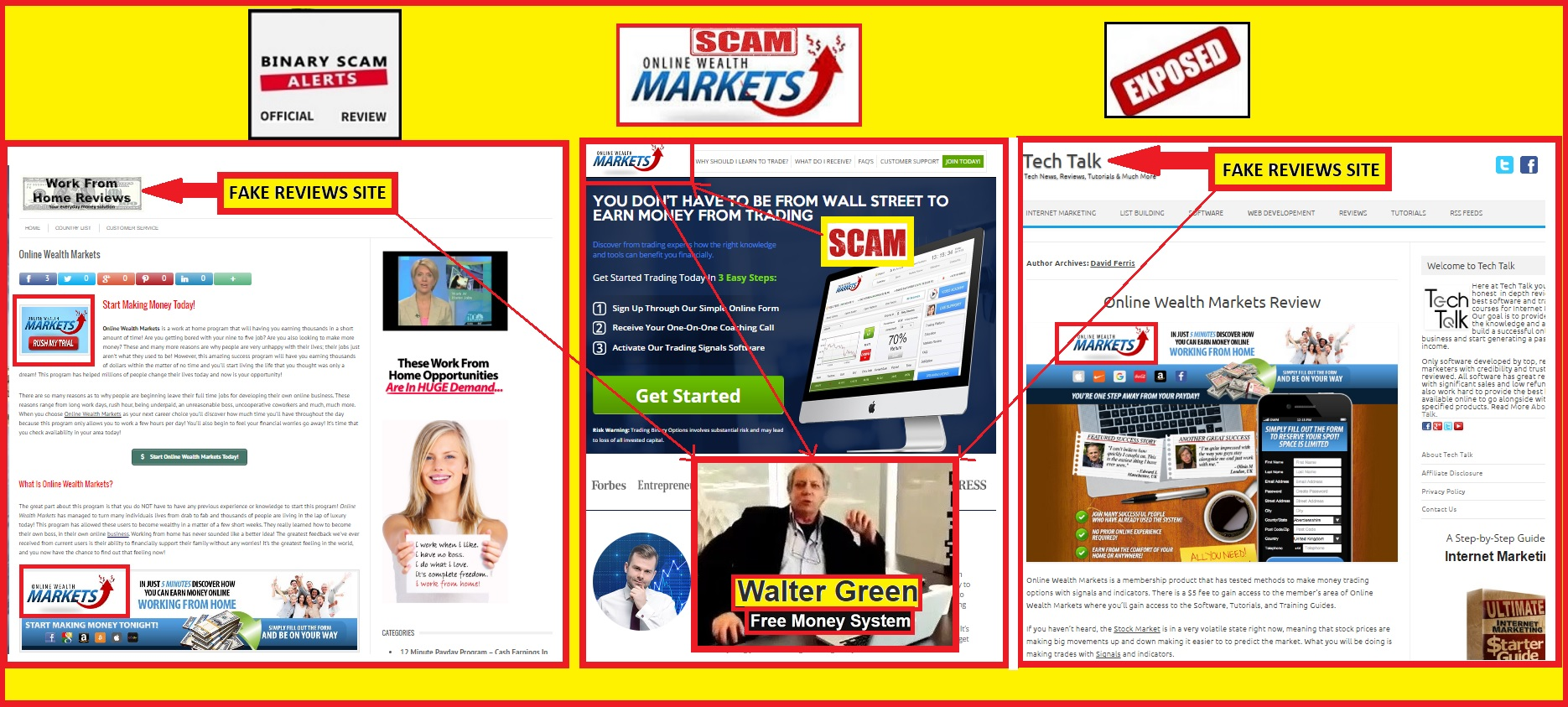 Online wealth markets review scam linked to fake millionaire online wealth markets main malvernweather Images