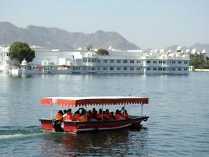 Boating at Pichola Lake in the backdrop of the Lake Palace