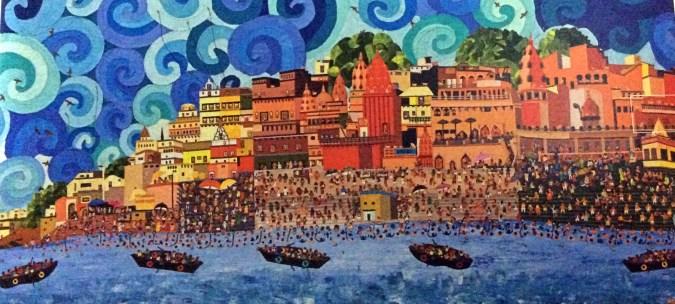Sailesh Sangvi's illustration on Varanasi