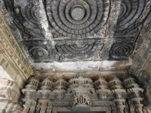 Intricate carvings inside the Tarakeshvar temple Hangal