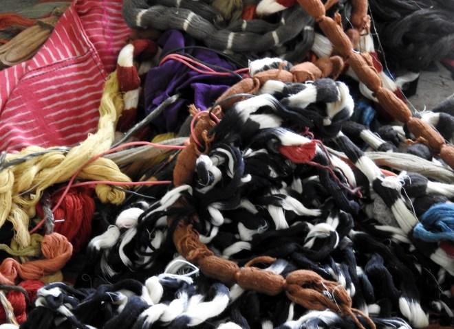 Ikat threads
