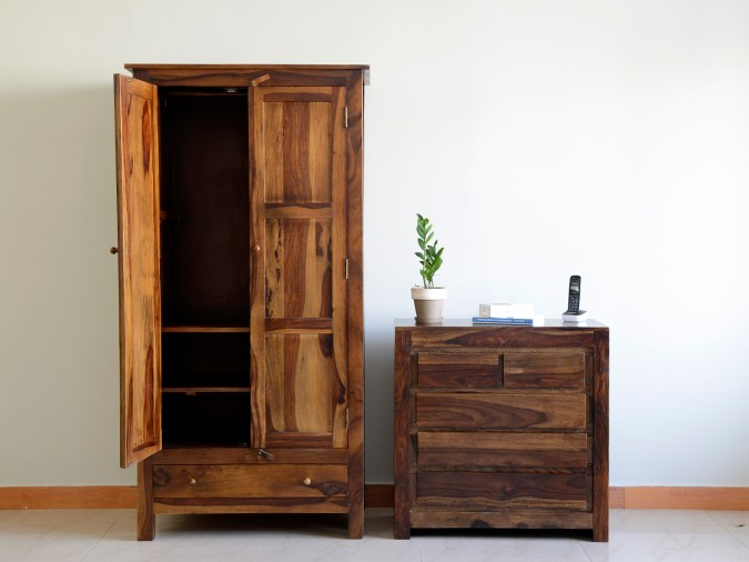 Belle wardrobe and Chest of drawers