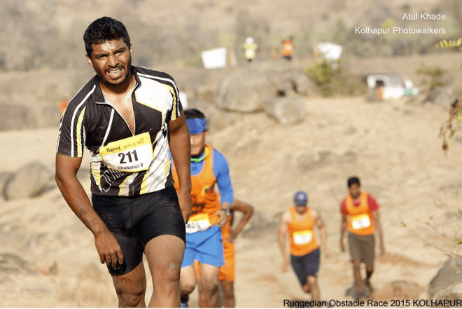Chaitanya Velhal at Ruggedian obstacle Race