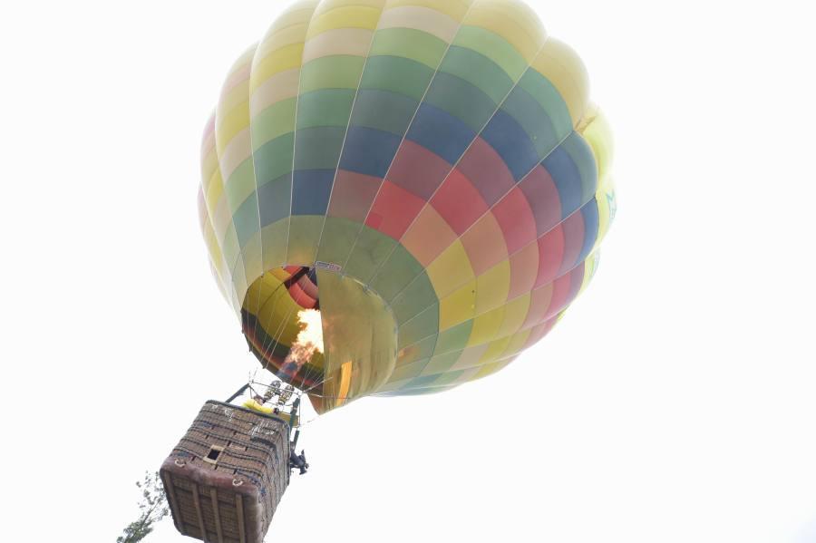 Hot air balloon at Araku
