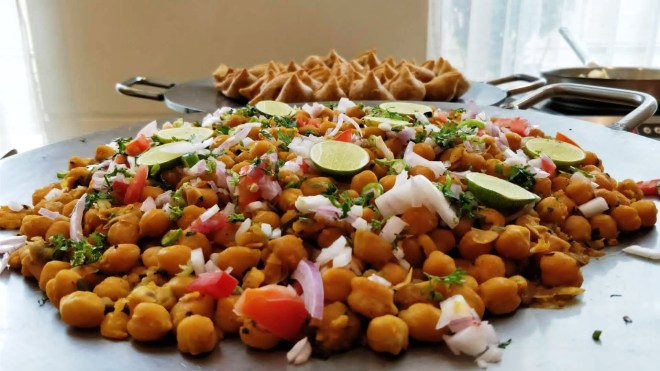 Channa an integral part of the street food delicacies