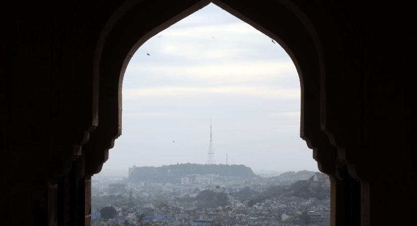 Jodhpur framed from Mehrangarh Fort