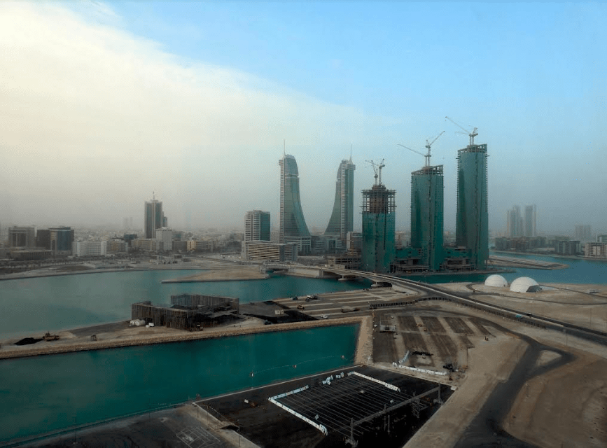 An aerial view of Manama