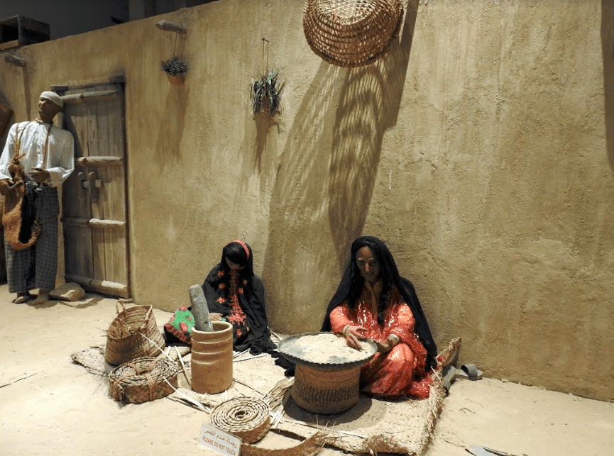 Exhibits in the national museum