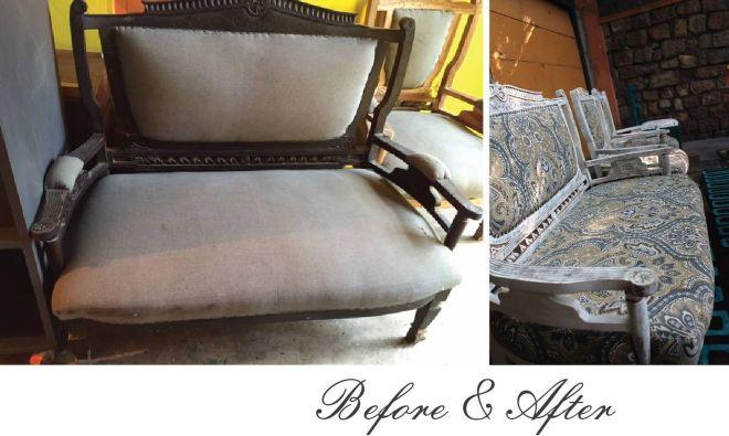 Upcycled sofa