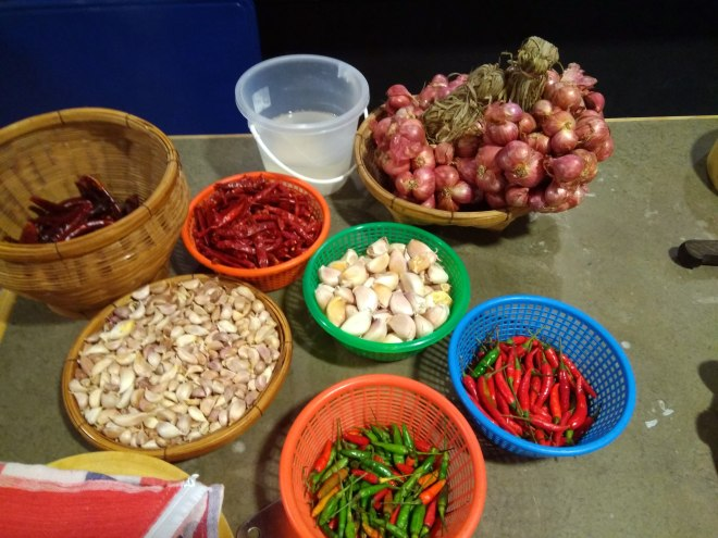 Ingredients for the cooking class