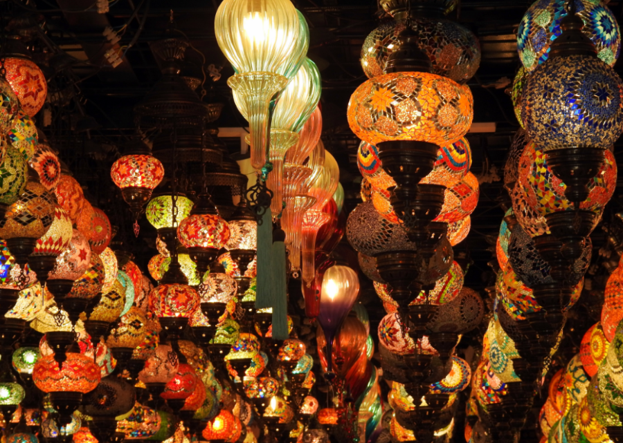Traditional lamps at the souq