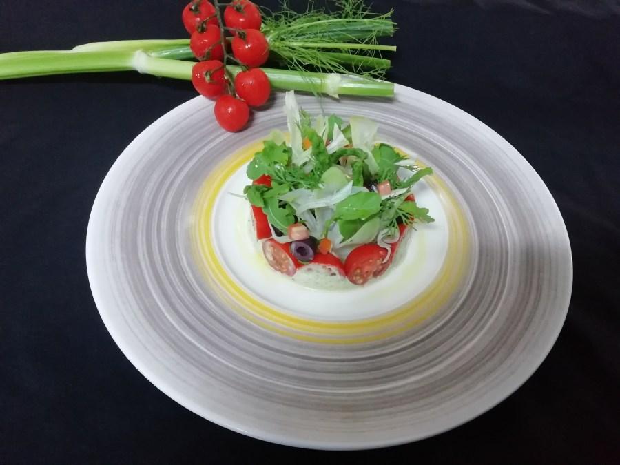 Avocado Mousse, Fennel, Plum Tomato