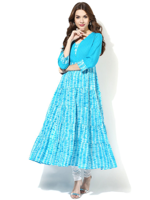 -AKS-Women-Blue-Printed-Anarkali-Kurta-