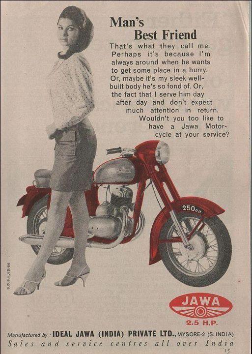 An old advertisement for Jawa Yezdi courtesy Gully Tours