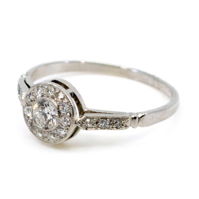 Diamond, Platinum Ring 0036VI Image2