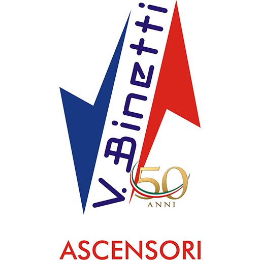 Logo per il 50° anniversario di attività Binetti Ascensori Cosenza.